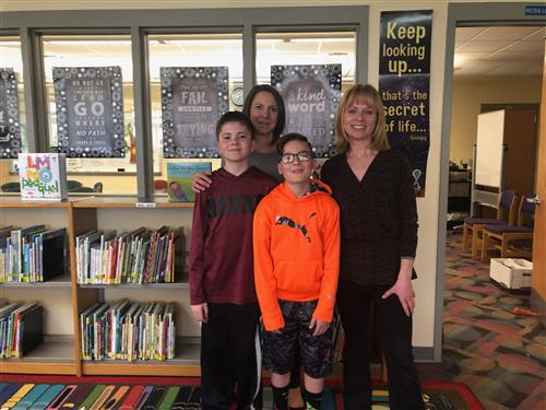 Mrs. Weckemen, Mrs. Stalter & Library Assistants