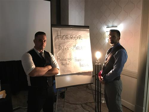 DiLeo and fellow presenter Rogulski, NYSEC 2018