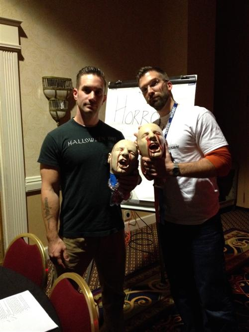 Mr. DiLeo (right) with Mr. Rogulski (Hendrick Hudson High School) at the 2014 NYSEC Conference